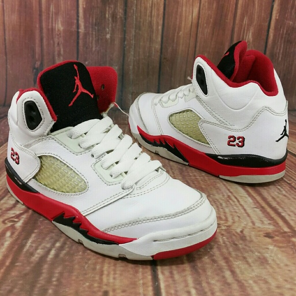 fe759b6d9b7b57 Jordan Other - NIKE Air Jordan Retro 5 White Fire Red sz 12C